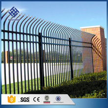 Factory price free design galvanized steel picket security steel fence