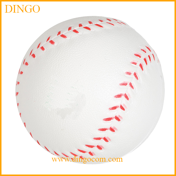 cheap promotional pu foam baseball shape stress ball
