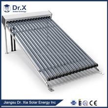 heat pipe solar thermal collector for flat roof mounted
