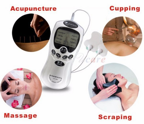 Electric Digital Therapy Machine Body Slimming Pulse Massager With Electrode Pads