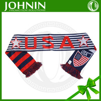 hot sales customized eco friendly polyester material USA logo Acrylic scarf