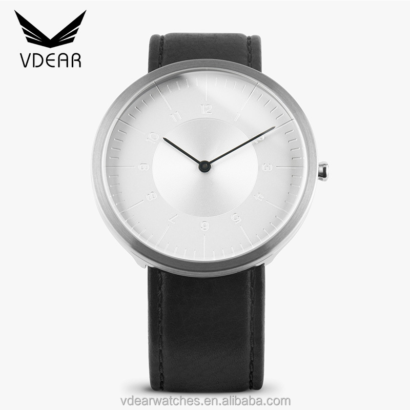 Chrome watches men dome sapphire crystal watch glass stainless steel case back watch made in china