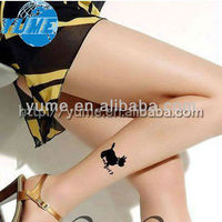 Music Legs Pantyhose Tights Black Sheer Dog Tattoo Design stocking One Size