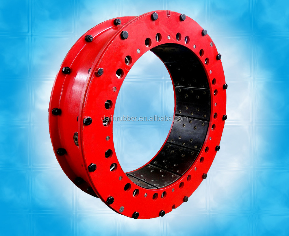 multiple-disc clutch and brake/pneumatic/low-inertia