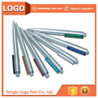 promotion plastic disposable ballpoint 2 in 1 pen with pencil