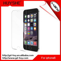 HUYSHE 9h anti-fingerprint anti-scratch 2.5round edge tempered glass screen protector screen cleaner for iphone 6