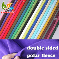 Double-sided polar fleece fabric anti-pilling Hoodies blankets coats lining fabric