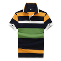 2018 hot sales high quality striped polo shirts customized logo for men wholesale