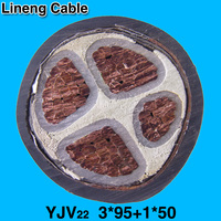 Lineng YJV22 3*95+1*50 Low Voltage 3+1 Core Armoured Copper Electrical Power Cable