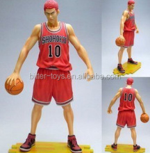 most popular 3d plastic japanese anime slam dunk character figure/basketball player sport figurines