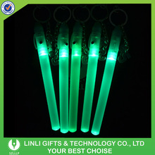 Promotional Logo Plastic Led Stick Key Chain,Flashlight Stick Keyring,Stick Keychain Led