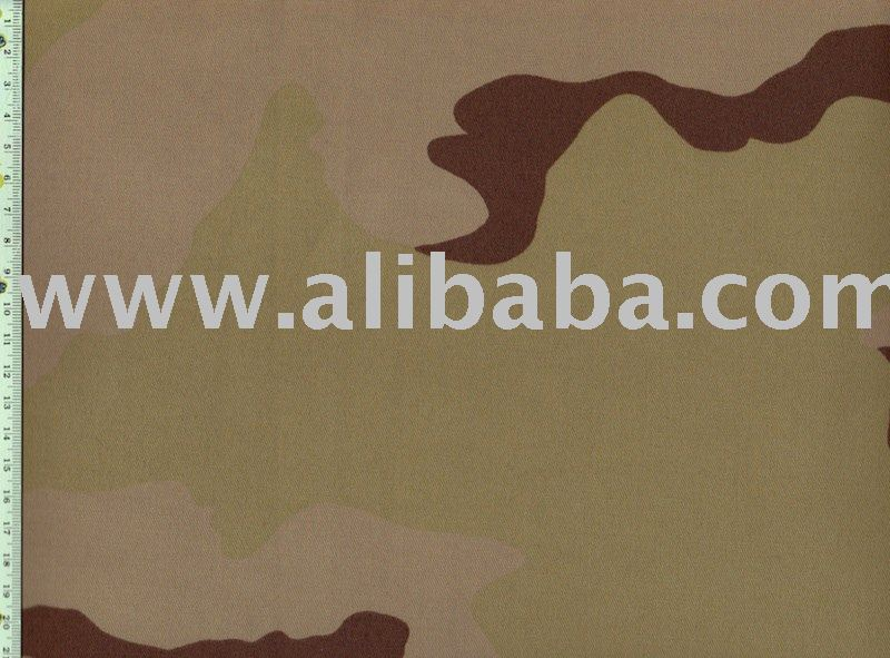 100% Cotton Camouflage Print Twill Fabric