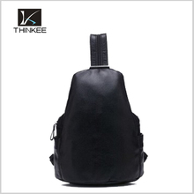 Wholesale leather travelling pure color backpack