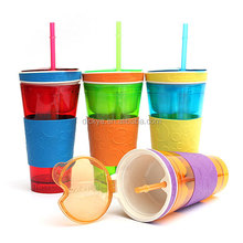 2015 Best Christmas gift Snack Cup Drink Cup Travel Cup in One Container Lid
