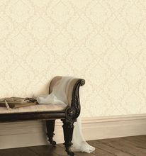 Cream European The Lasest Washable suede fabric wallpaper