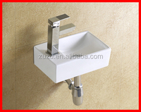Sanitary corner small sink wash hand wall hang basin B-8402
