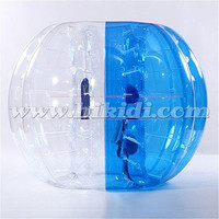 Kids inflatable bumper zorb ball, half color TPU bubble soccer cheap price D5020