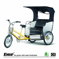Electric battery operated pedicab rickshaw