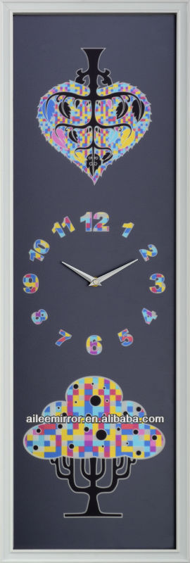 Time clock system led color changing lights clock