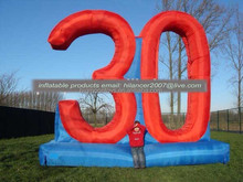 Inflatable giant celebration 30 years logo wall for sale