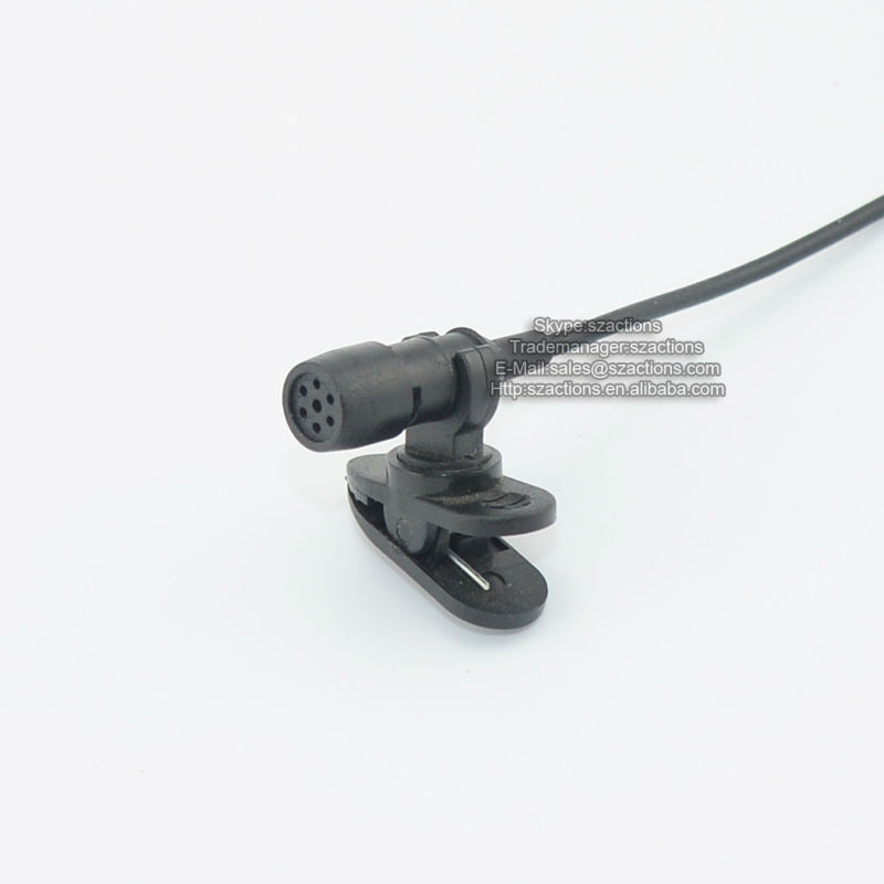 Microfone sem fio Profissional Tie Clip Condenser Megaphont , Wired Lavalier Microphones for Broadcasting or Interview