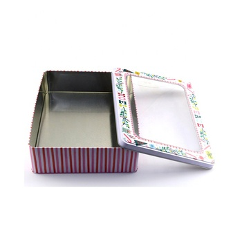 Accept Custom Empty Glossy Lamination Metal Packaging Gift Tin Box