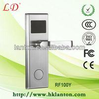 LD-RF100YS cheaper stainless steel hotel lock,electronic locks for hotels,hotel key card door lock