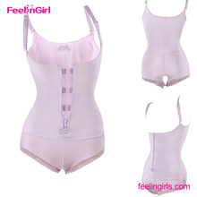 Adjustable Straps Zipper Pink Bodysuit Slimming Full Body Vedette Shapewear