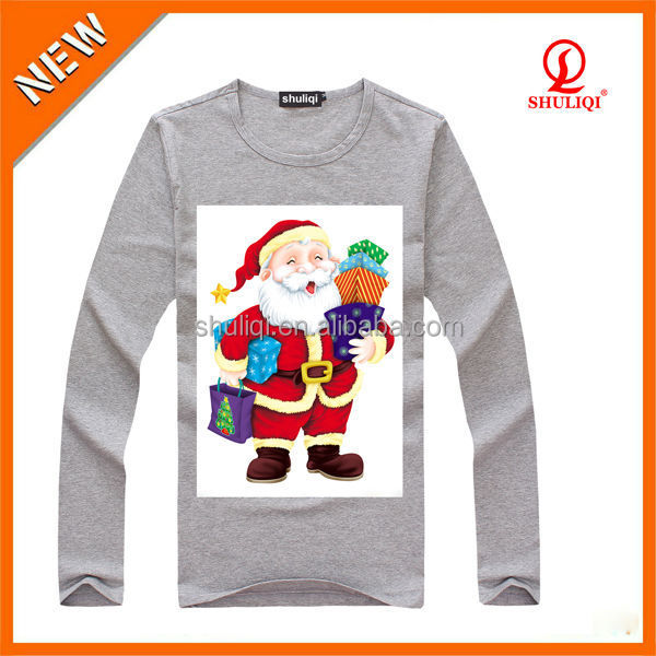 Custom Chrismas t shirts 100% cotton fast delivery time