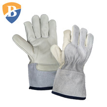 Puncture Resistant Mechanics Gloves Leather Work Gloves In Safety Gloves