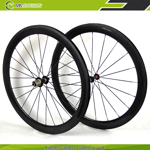 2016 Crazy Selling The Hottest sale 50mm clincher carbon Disc Brake wheelset road fixed gear bike wheels