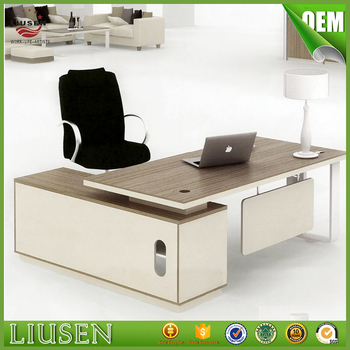 high quality cheap factory direct office furniture mfc panel manager office desk with cabinet