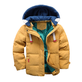 S51436A 2019 Autumn Winter Jacket Coat Kids Warm Thick Hooded Children Outerwear Coat