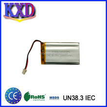 Rechargeable battery with pcb lithium ion battery 3.7v 2000mah