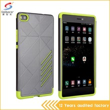 Multi color/style high quality dot view case for huawei p8
