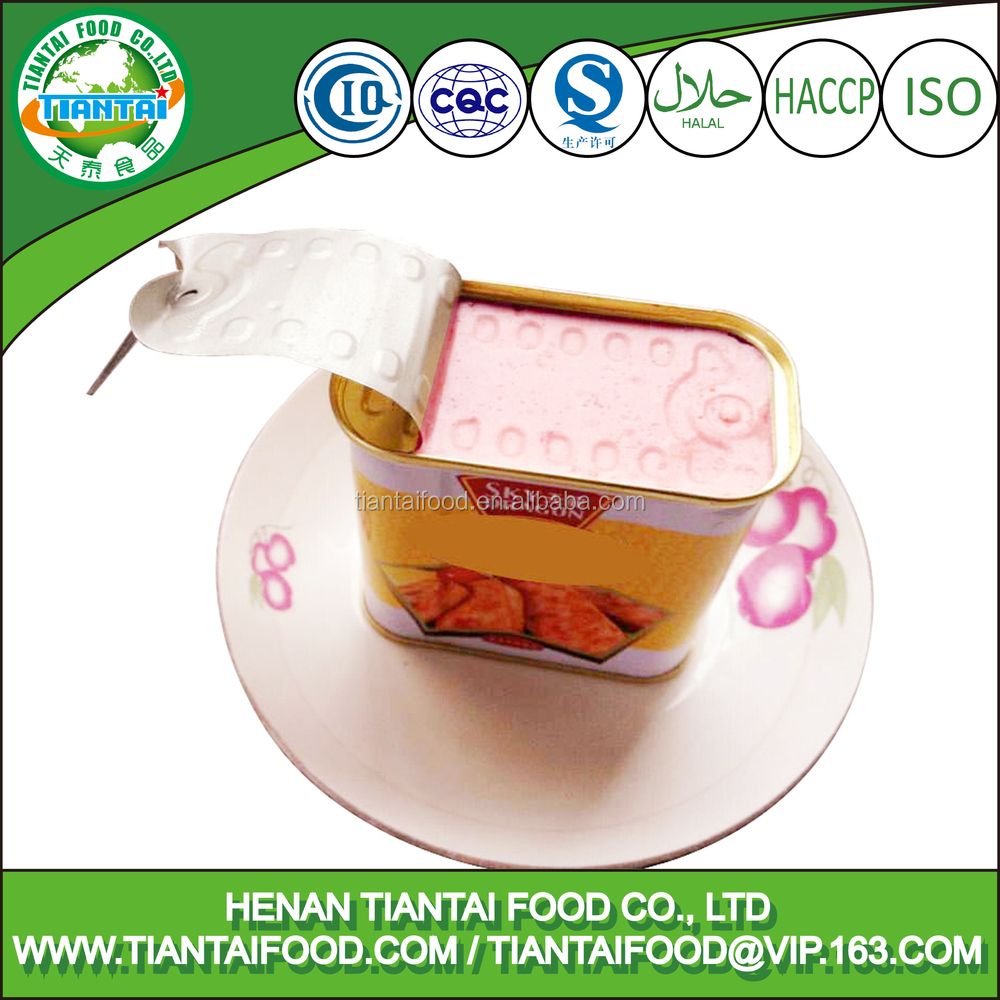 street food halal chicken canned chicken luncheon meat