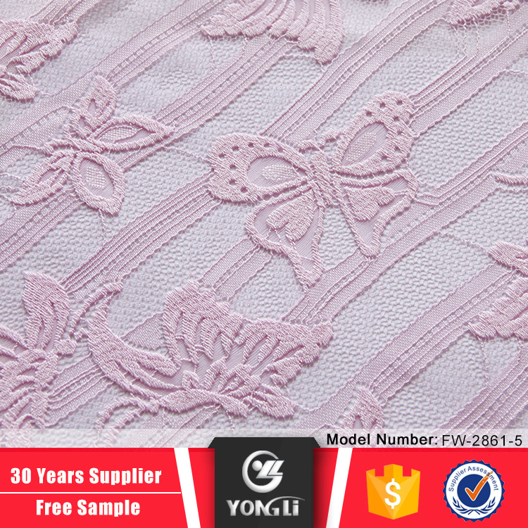 Top alibaba supplier pink butterfly tulle swiss lace bridal fabric