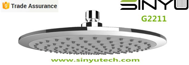 SINYU G2211 Round 220-- 1Jet Rainfall Waterfall Bathroom Shower head faucet accessory