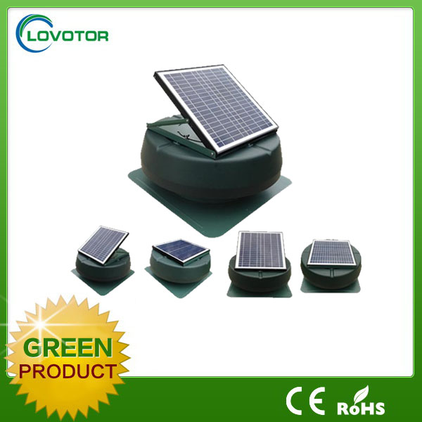 Auto cool solar powered outdoor fans greenhouse solar fan