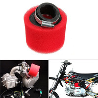 38mm ATV PIT DIRT BIKE 45 Degree ANGLED FOAM Air Filter Pod Cleaner 110cc 125cc RED CRF50 R50 CRF