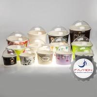 Disposable 2oz 10oz 16oz custom printed frozen yogurt paper ice cream cup