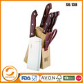 Stock Kitchenware carving knife set with block