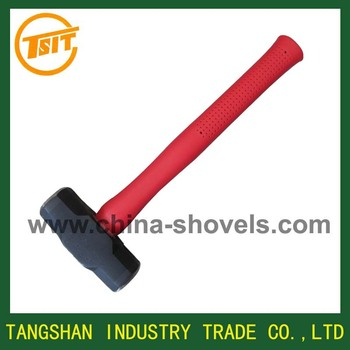 Sledge hammer with fiberglass handle