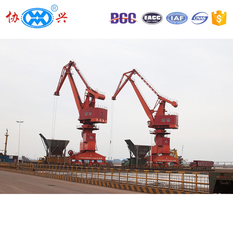 Reasonable price 25 tons rail mounted mobile four link portal crane