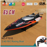 FT010 RC boat model 65 cm black 35km/h large high speed rc boat