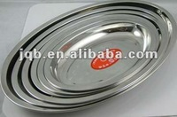 9 Inch Cheapest Stainless steel Oval plate/Dish