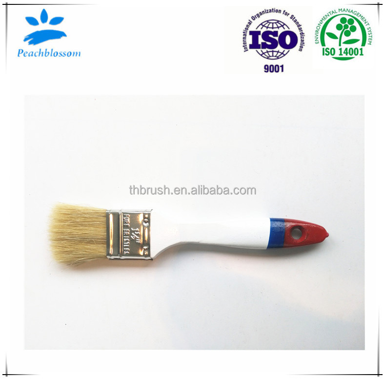 2017 Pig Bristle Hair Paint Brush With Wooden Handle Manufacturer