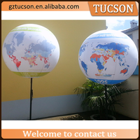 outdoor advertising giant inflatable stand earth globe balloon sph for sale
