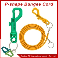 Promotional P Shape Casino Bungee Cord Bungee Coil With Ring