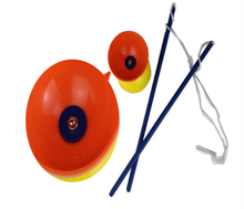 Plastic Bowl Diabolo Juggling Spinning Chinese Yo Yo Classic Toy with Hand Sticks